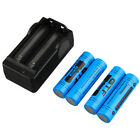 NEW 4pcs 18650 3.7V 9900mAh Rechargeable Battery + EU Charger LOT LO
