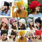 Men Women New Thermal Beanie Hat Cat ear Knitted Slouchy Outdoor Winter Ski Hot