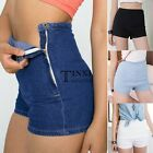 Summer Jeans Women Girl  High Waist Denim Casual Short Pants Button Shorts TXSU