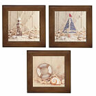 Lighthouse Yacht LifeRing Shell Ceramic Framed Home Decor Tile/ Wall Plaque~New