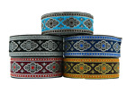 10m Embroidered  Ribbon/Trim Medieval   33mm width Various colours available