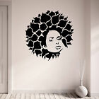 Bloom Leaves Afro Vinyl Wall Art Sticker Decal Living Room Hallway Girl Teenager