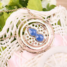 Cool Fashion Magic Time Turner Necklace Rotating Spins Hourglass Necklace LU