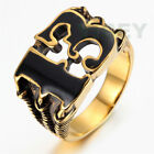 Men's Jewelry Stainless Steel Ring Vintage Arabic13 Black Gold Wolf Dragon Claw