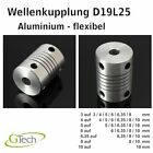 Kyпить Wellenkupplung 3D-Drucker Modellbau CNC Aluminium flexibel shaft couppler D19L25 на еВаy.соm