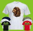 Lion Head Roar Mens PRINTED T-SHIRT Big Cat Wildlife Animals