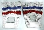 VINTAGE BICYCLES GLOVES - COTON CROCHET AND LEATHER - FRENCH COLOR