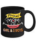Proud Mom Of An Awesome Girl And 2 Boys Home Office Coffee Mug Tea Cup