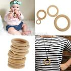10pcs/Set Natural Blank Wooden Loop Ring Beads Baby Teether DIY Jewelry Craft
