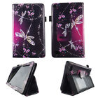 Folio tablet case for Kindle Fire 7 inch 2015 slim fit PU leather cover stylus