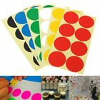120Pcs 50mm Plastic Vinyl Color Round Code Dot Blank Stickers Adhesive Sticky La