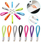 Micro USB Cable Data Sync Charger Cord Magnet Flat Short For Samsung S2 S3 S4 PC