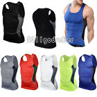 Men's Compression Sports Tights Sleeveless T-Shirt Fitness GYM Base Layer Tops
