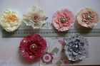 Exotic Lace Dress Pin & Hair Clip 75-90mm 6 Colours Njoyfull Crafts Multi List
