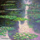 Handmade Impression of thick Oil Painting Art repro Water Lilies on Canvas Wat05