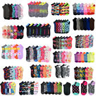 Wholesale Lot Women's Girl Mixed Assorted Designs Colors Ankle Low Cut Socks