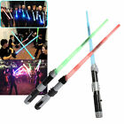 Plastic Retractable Sword toys With Duel Sound and multiple Colour Light LO