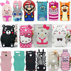 New 3D Cute Cartoon Animals Soft Silicone Case Cover For Huawei P8 Lite P9 Lite
