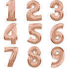 FOIL ROSE GOLD BIRTHDAY BALLOONS ONE FIRST BIRTHDAY BABY PARTY DECORATIONS