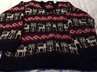 3 Hand Made Virgin Wool Sweaters From Nepal Size Large L Reindeer  iPhone X