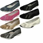Down To Earth Ladies Flat Ballerina Shoes - 991