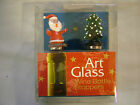 Set of 2 Christmas Theme Art Glass Bottle Stopper Assorted