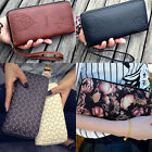2017 new women purse clutch leather wallet long card holder phone zip handbag