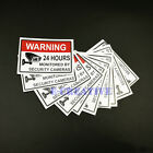 Home CCTV Surveillance Security Camera Sticker Warning Decal Signs 50.8*76.2mm