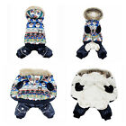 Pet Puppy Dog Warm Coat Snowman Hoodie Jacket Clothes Winter Apparel Costume New