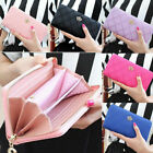 Fashion Women Crown Leather Wallet Long Zipper Card Phone Holder Clutch Purse US image