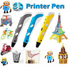 1st & 2nd 3D Printing Pen Stereoscopic Drawing Arts Crafts+ 3 Free ABS Filaments