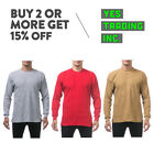 PROCLUB PRO CLUB MENS CASUAL THERMAL T SHIRT LONG SLEEVE SHIRTS PLAIN WAFFLE TEE image