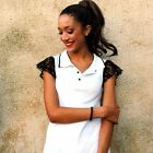 "Love Polo White Dress With Lace Details "" Chiara"" Casual Chic"