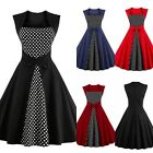 Women Vintage Retro 1950s 60s Swing Pinup Rockabilly Causal Evening Party Dress