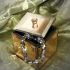 Mirrored Copper Sparkle Jewellery Trinket Box plus free engraving (optional)