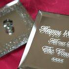 Mirrored Silver Sparkle Jewellery Trinket Box plus free engraving (optional)