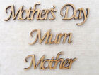 Wooden MDF Script Words Craft Names Mum Mummy Mother or Mother's Day  5 Pack