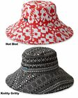 Women's Kavu Mary Lou Sun Hat Cotton Canvas Bucket w/ Sweatband Small OR Large