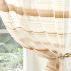 ORGANZA Voile Sheer GOLD BEIGE IVORY Curtain Panel  All Sizes Extra Wide Ex Long