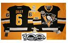 Daley Home Pittsburgh Penguins Reebok Hockey Jersey 50th & NHL 100th patch 7185