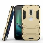 Moto G4 Play Dual Layer Rugged Case Shockproof Cover with Kickstand