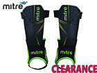 *CLEARANCE NEW* MITRE - DELTA ANKLE SHINGUARDS - MD - BLK/GRN/YLW - CB1 & CB4