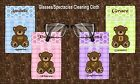 HOROSCOPE/ASTRONOMY CUTE GLASSES/SPECTACLES CLEANING CLOTH TATTY TEDDY BEAR CUTE