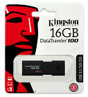 16GB 32GB 64GB KINGSTON DataTraveler D100 USB 3.0 Memory Flash Drive