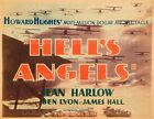 "HELL'S ANGELS 1930 Airplane BI-PLANE Howard Hughes = POSTER = 7 SIZES 19"" - 36"""