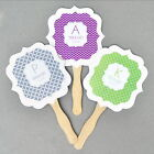 hand fans personalised - Personalized Mod Monogram Paddle Hand Fans Wedding Birthday Bridal Shower Favors