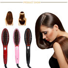 Electric Heating LCD Display Hair Straightener Comb Brush