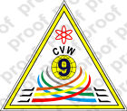 STICKER USN CARRIER AIR WING CVW 9