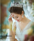 Snow Queen Costume Ice Queen Tiara Crown Rhinestone Wedding Prom Pageant Crowns