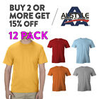 12 PACK AAA ALSTYLE 1301 MENS CASUAL T SHIRT PLAIN SHORT SLEEVE SHIRTS COTTON image